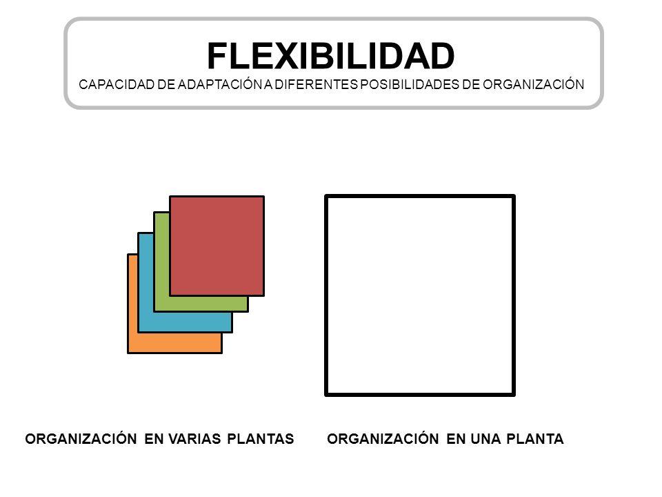 CAPACIDAD DE ADAPTACIÓN A DIFERENTES POSIBILIDADES DE ORGANIZACIÓN