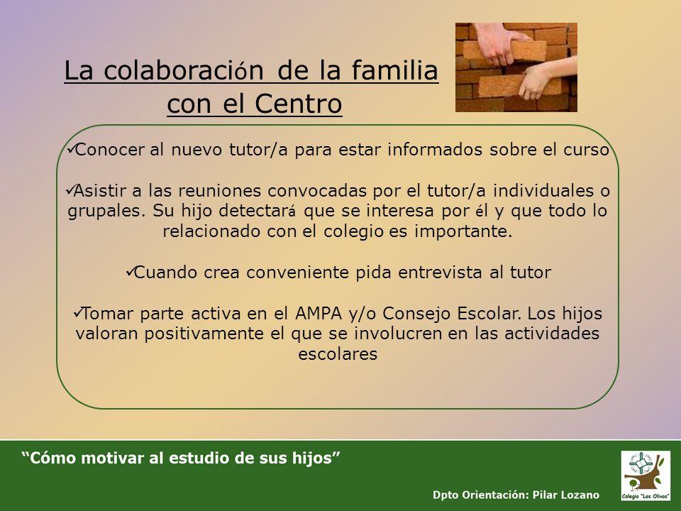 La colaboración de la familia con el Centro