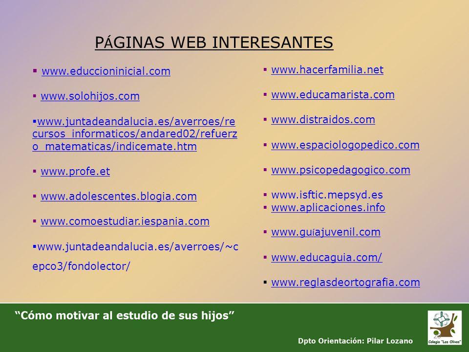 PÁGINAS WEB INTERESANTES