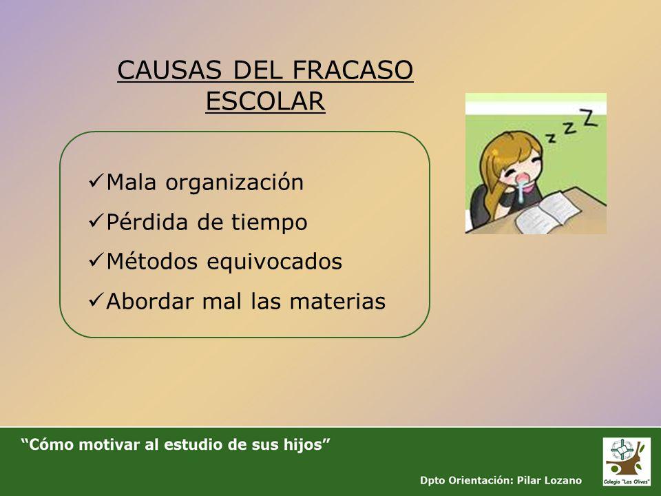 CAUSAS DEL FRACASO ESCOLAR