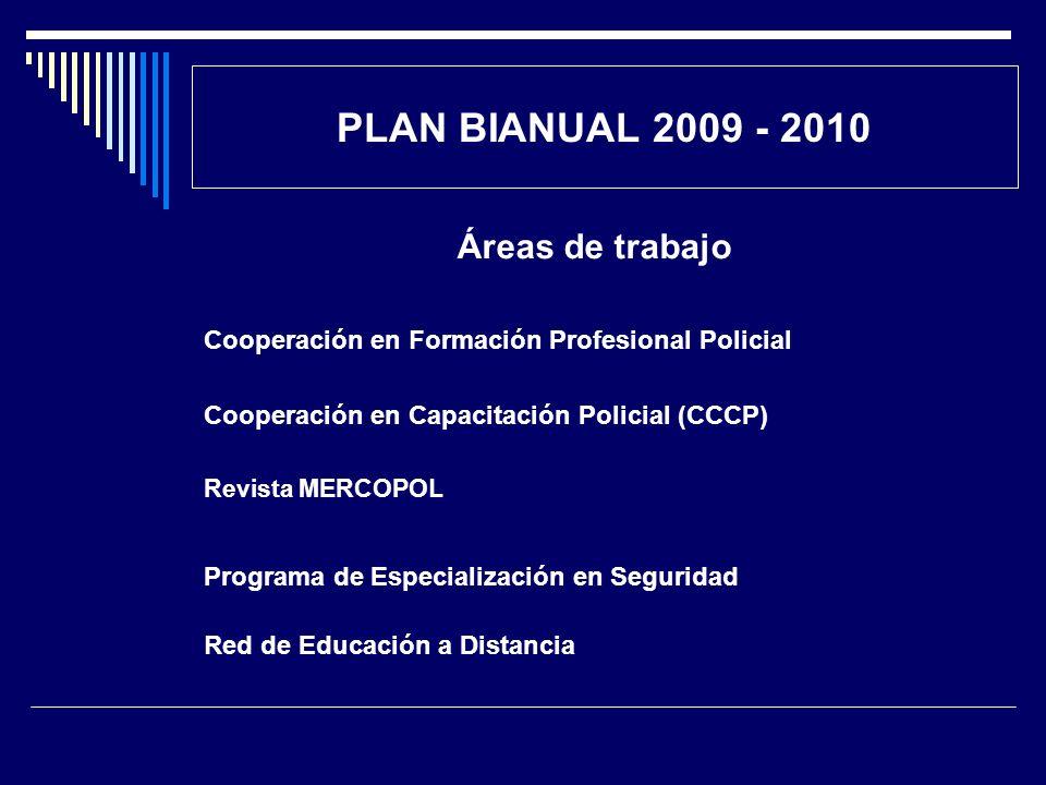PLAN BIANUAL 2009 - 2010 Áreas de trabajo
