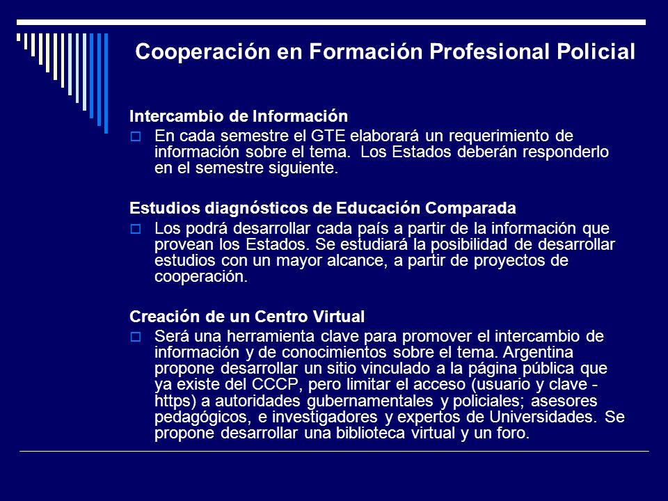 Cooperación en Formación Profesional Policial