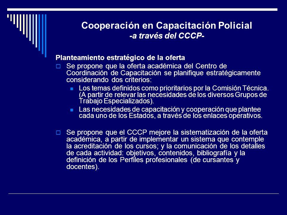 Cooperación en Capacitación Policial -a través del CCCP-