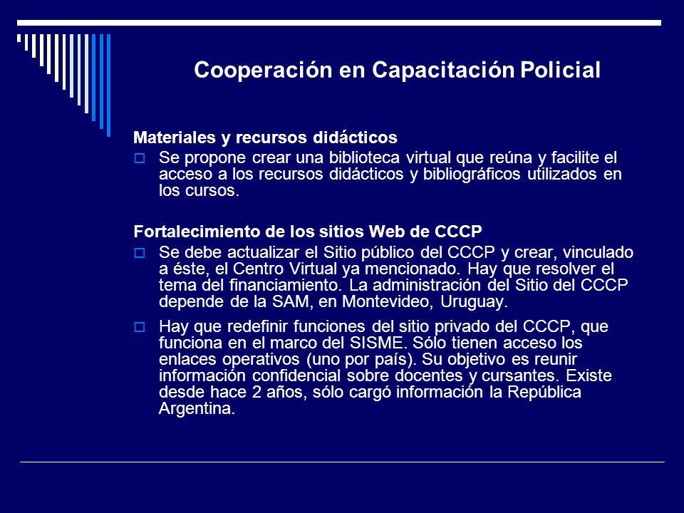 Cooperación en Capacitación Policial