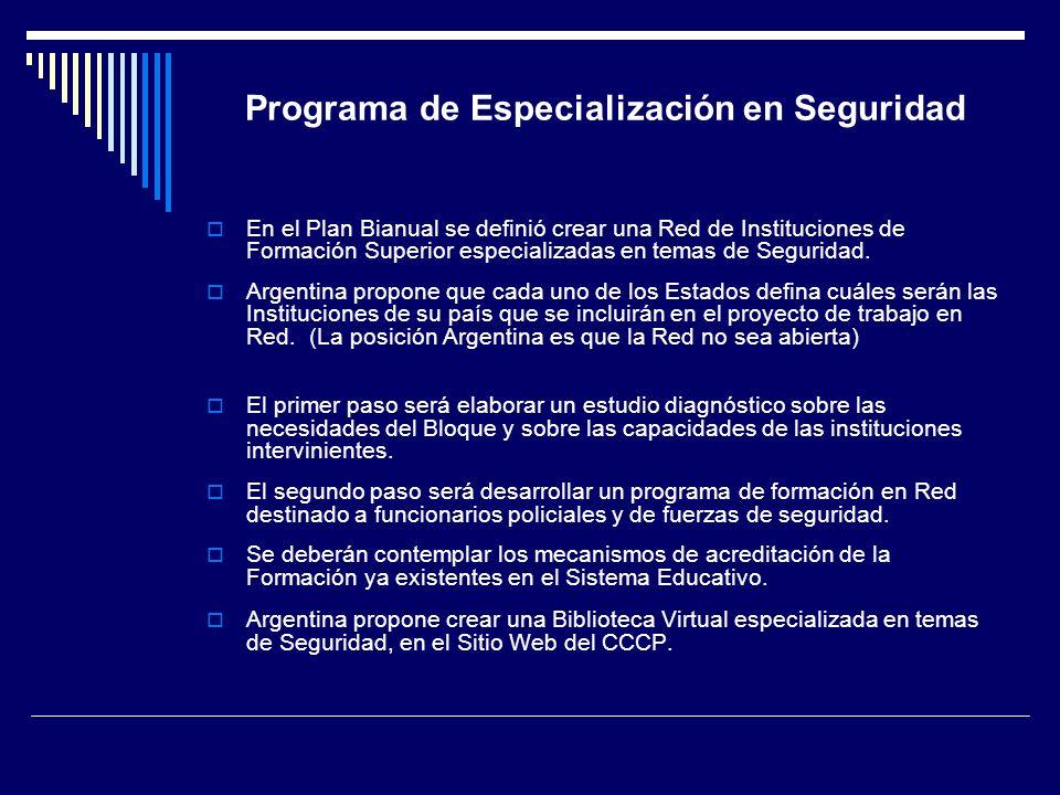 Programa de Especialización en Seguridad