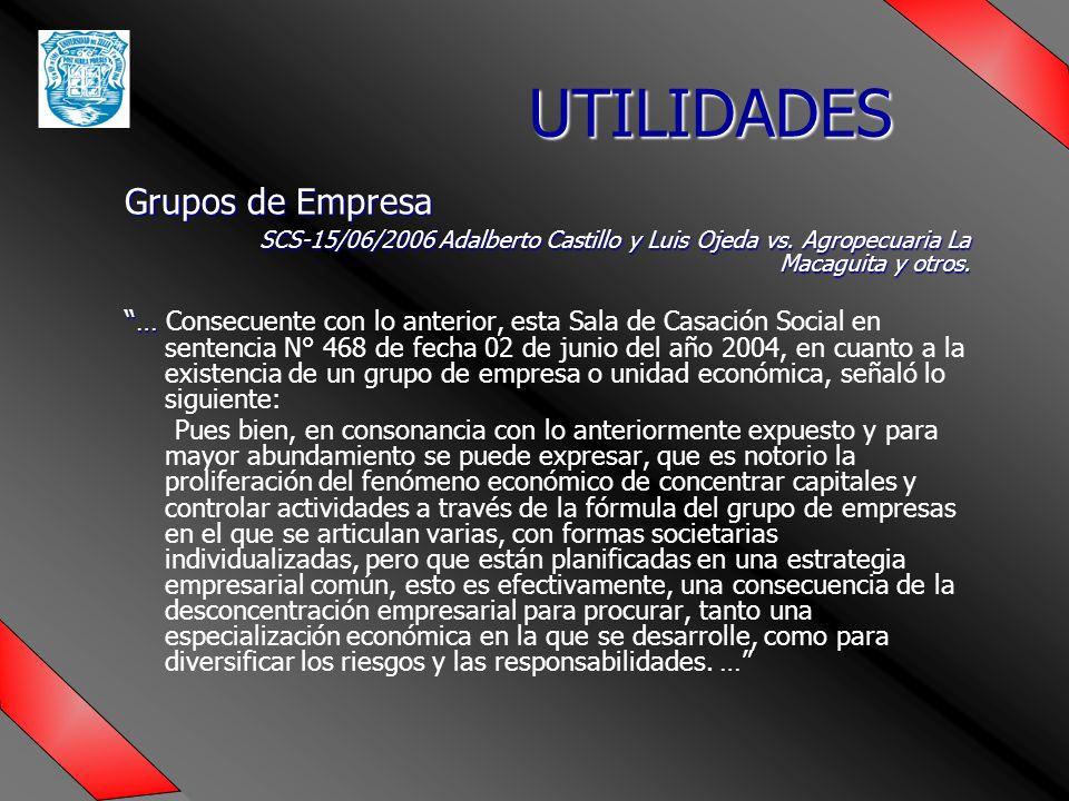 UTILIDADES Grupos de Empresa