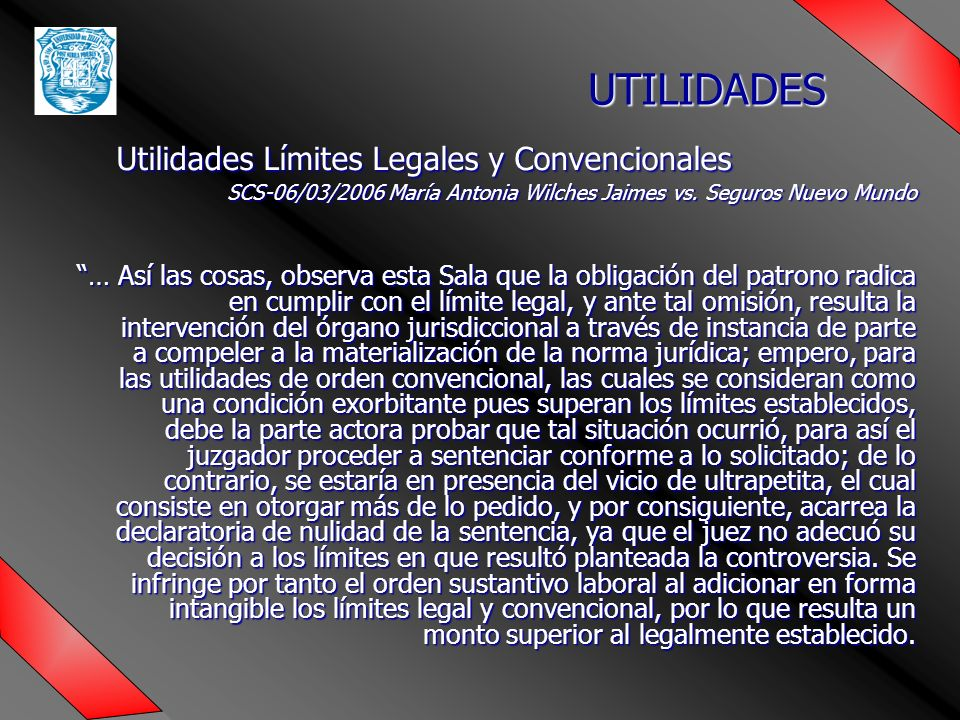 Utilidades Límites Legales y Convencionales
