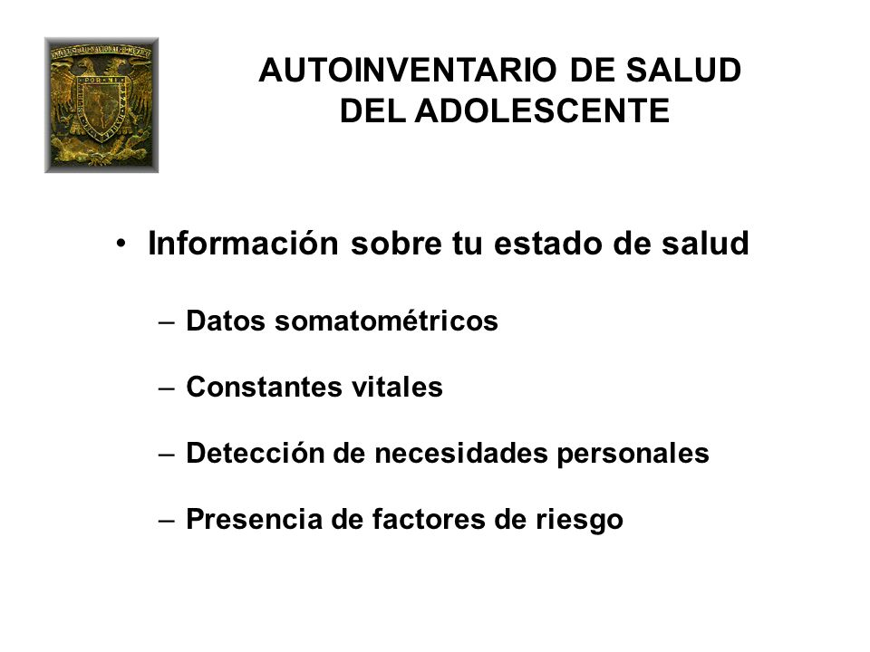 AUTOINVENTARIO DE SALUD DEL ADOLESCENTE