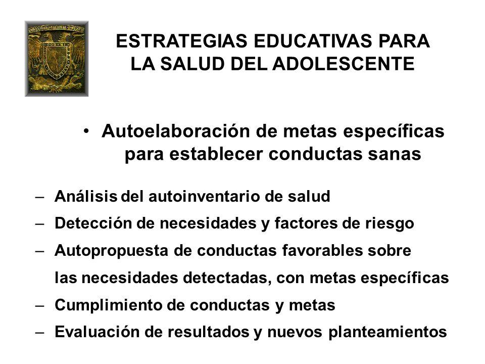 ESTRATEGIAS EDUCATIVAS PARA LA SALUD DEL ADOLESCENTE