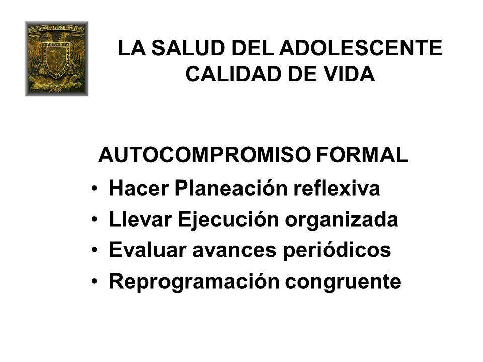 LA SALUD DEL ADOLESCENTE CALIDAD DE VIDA