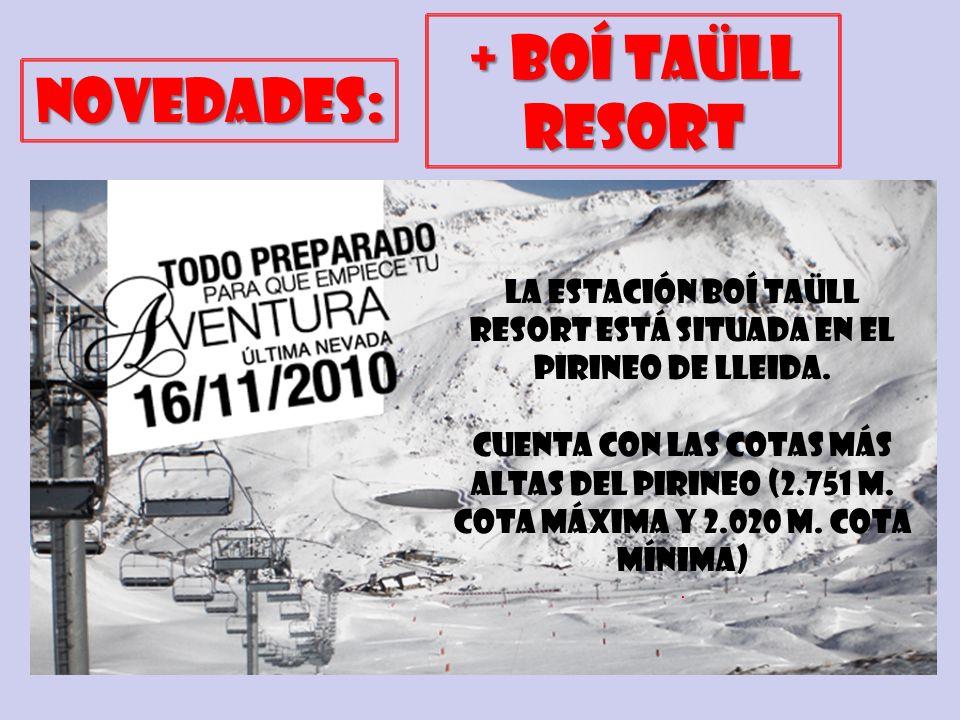 la estación Boí Taüll Resort ESTÁ SituadA en el Pirineo de Lleida.