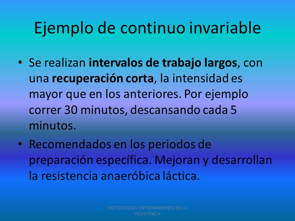 Ejemplo de continuo invariable