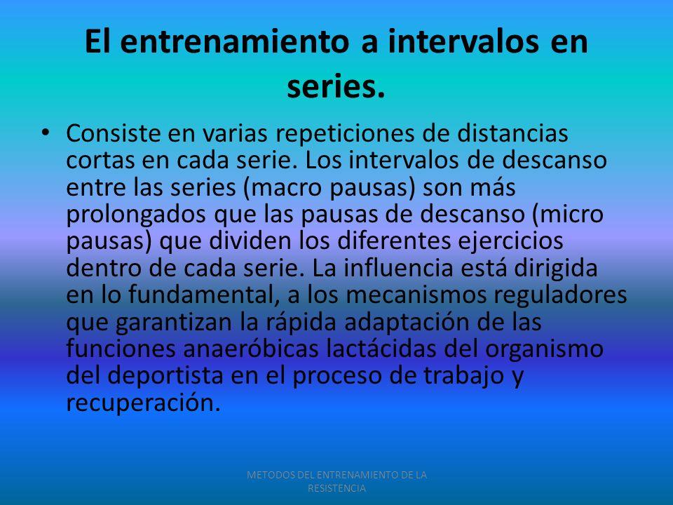 El entrenamiento a intervalos en series.