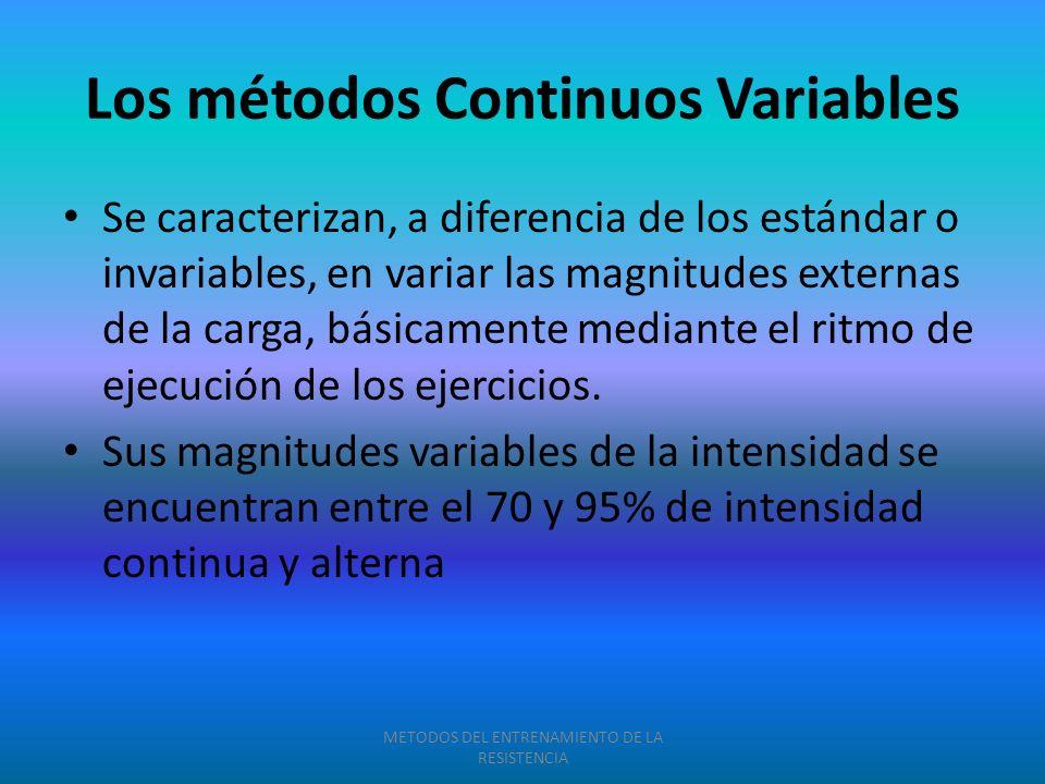 Los métodos Continuos Variables