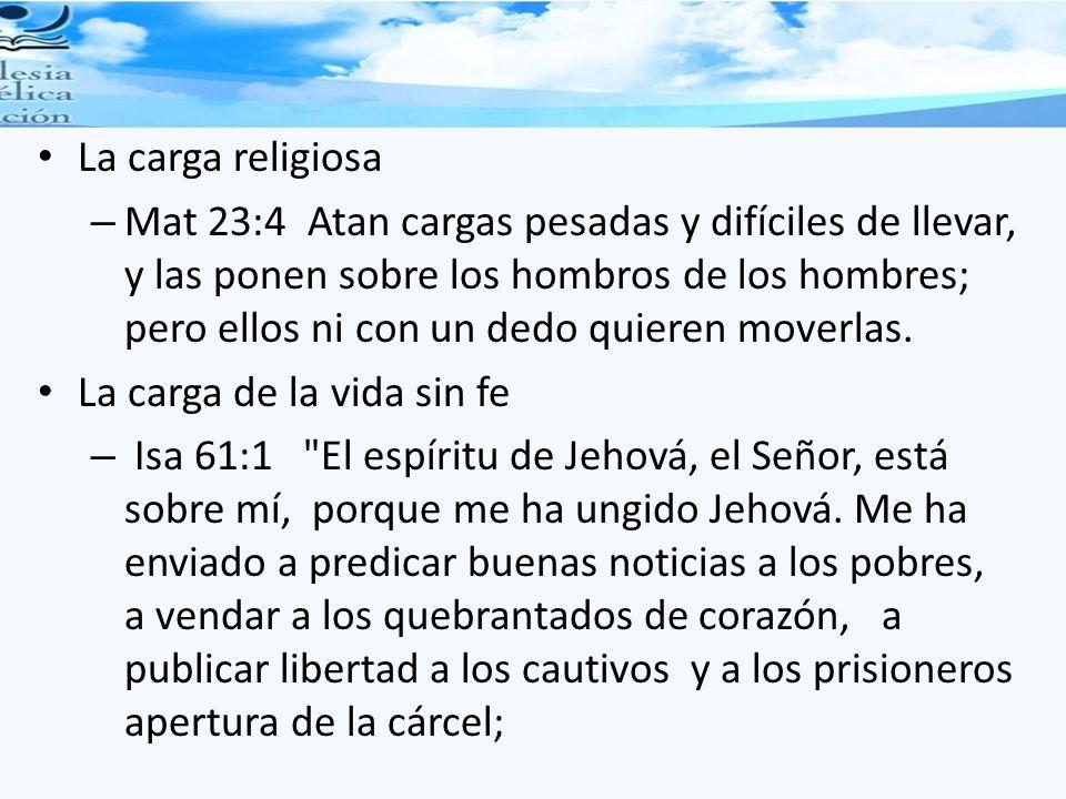La carga religiosa