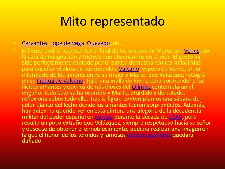 Mito representado Cervantes, Lope de Vega, Quevedo, etc.