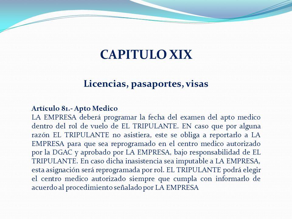 Licencias, pasaportes, visas