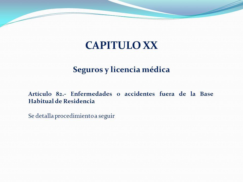 Seguros y licencia médica