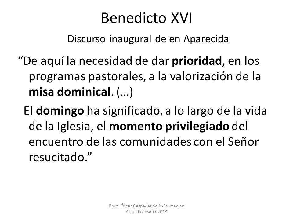 Benedicto XVI Discurso inaugural de en Aparecida