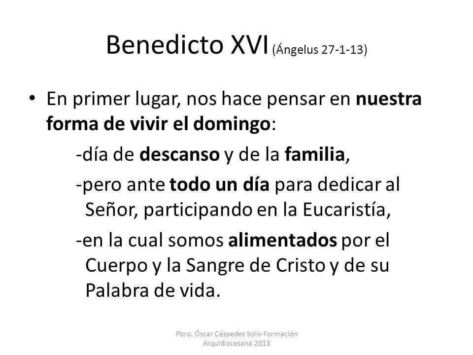 Benedicto XVI (Ángelus 27-1-13)