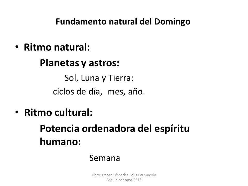 Fundamento natural del Domingo