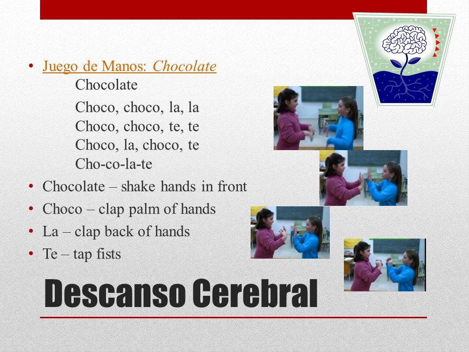Descanso Cerebral Juego de Manos: Chocolate Chocolate