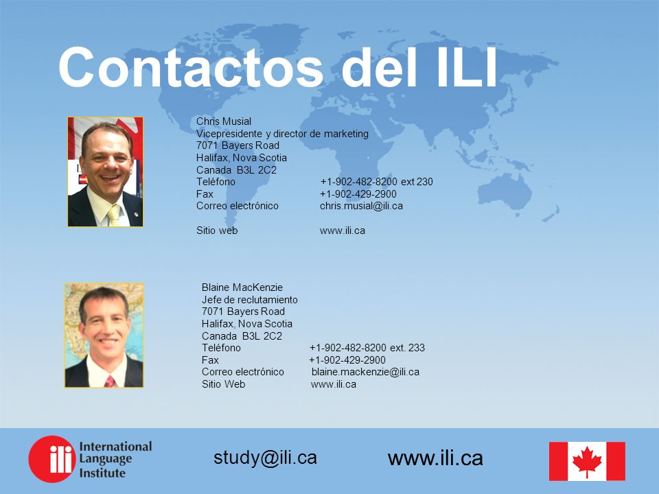 Contactos del ILI Chris Musial Vicepresidente y director de marketing
