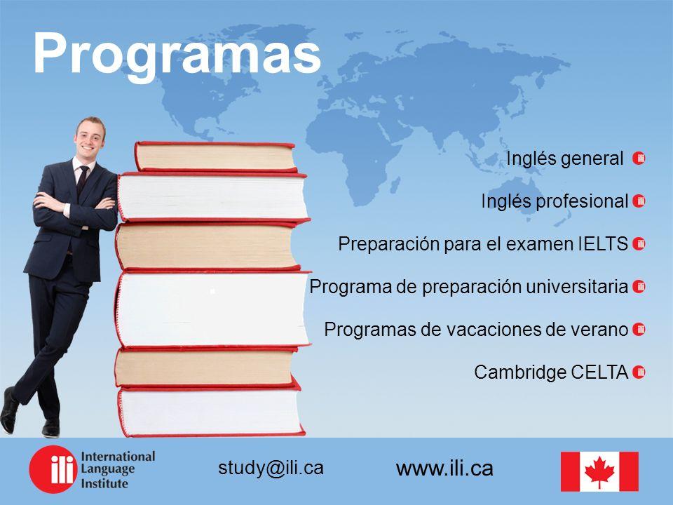 Programas Inglés general Inglés profesional