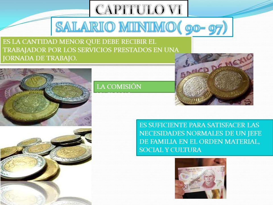 CAPITULO VI SALARIO MINIMO( 90- 97)