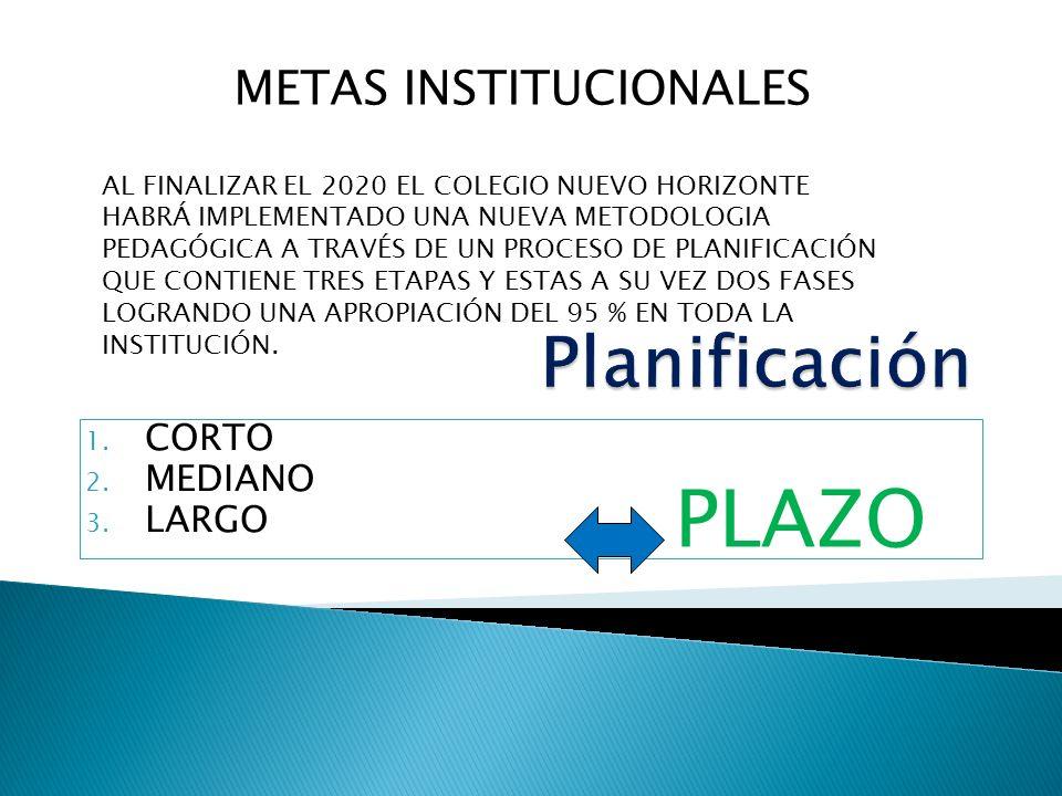 METAS INSTITUCIONALES