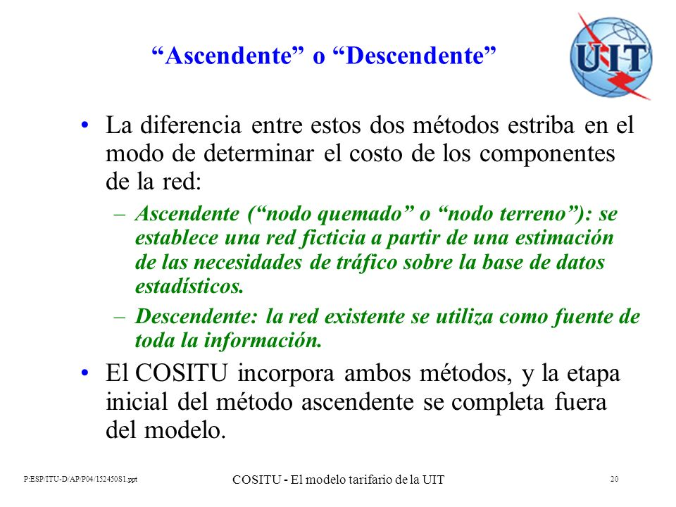 Ascendente o Descendente