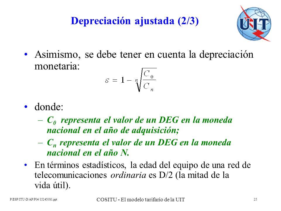 Depreciación ajustada (2/3)
