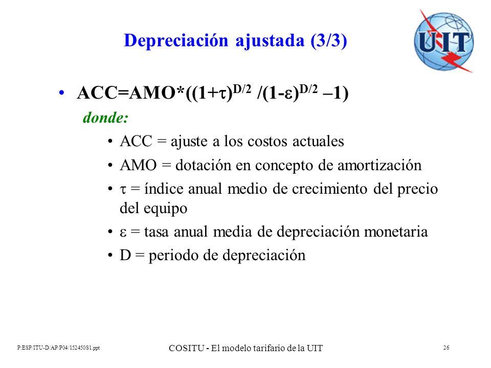 Depreciación ajustada (3/3)