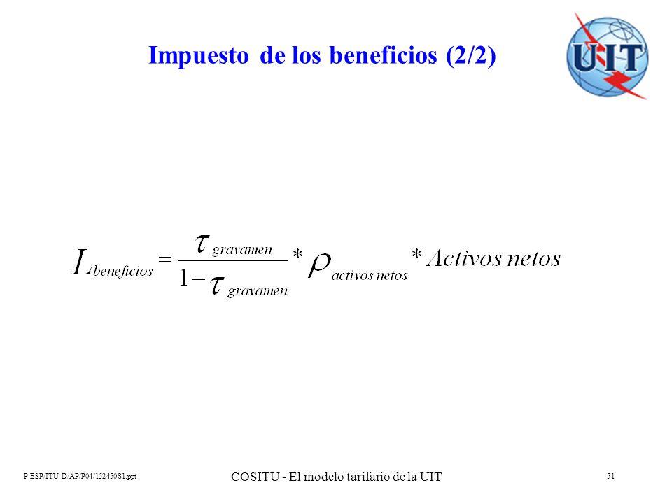 Impuesto de los beneficios (2/2)