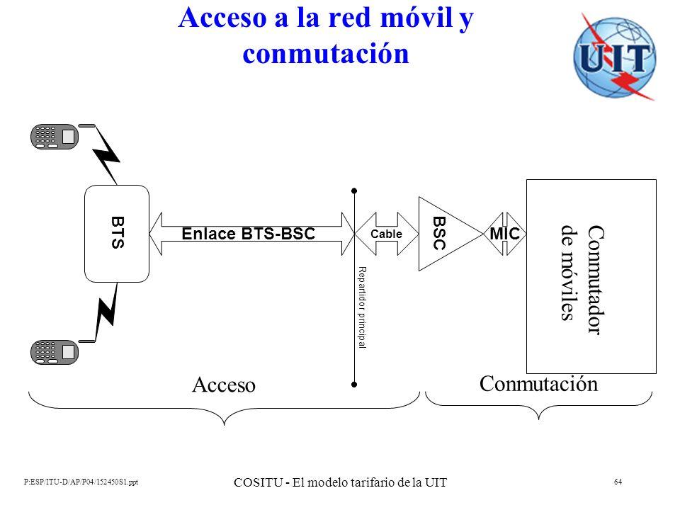 Acceso a la red móvil y conmutación