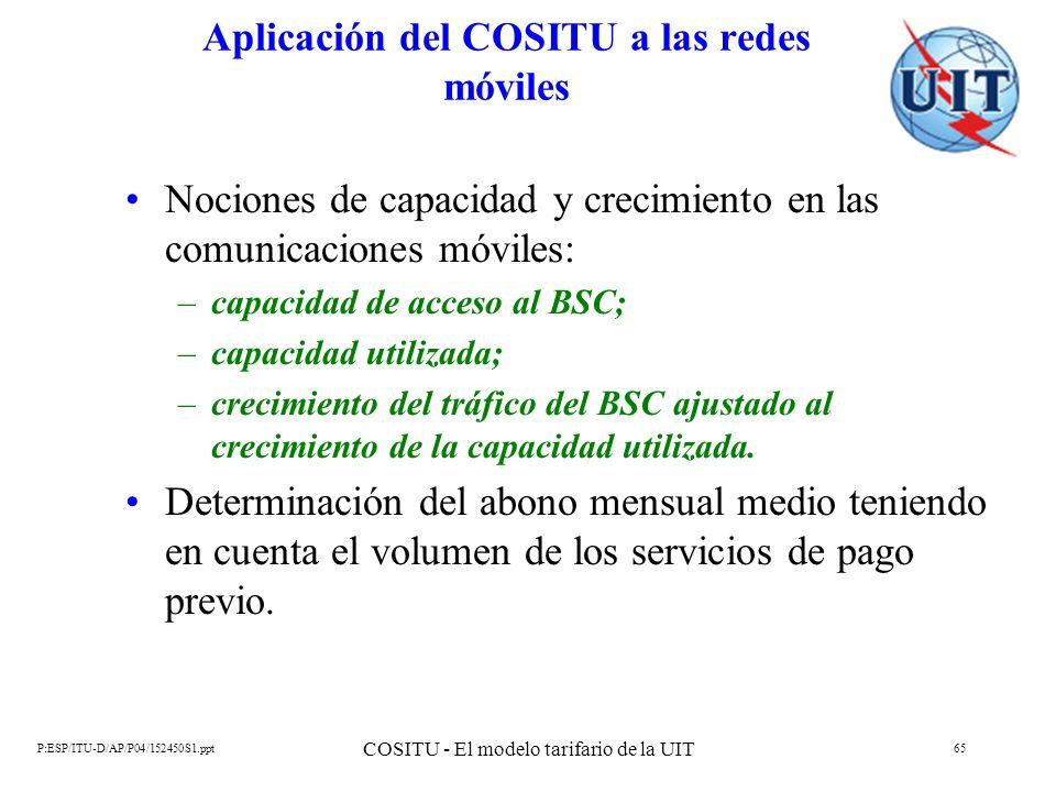 Aplicación del COSITU a las redes móviles