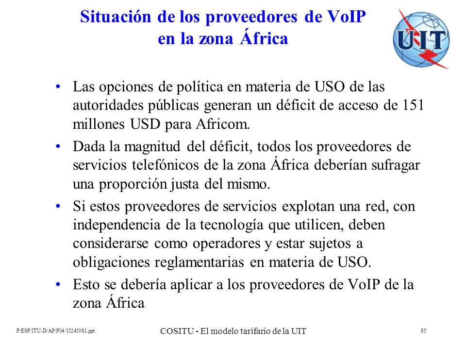 Situación de los proveedores de VoIP en la zona África