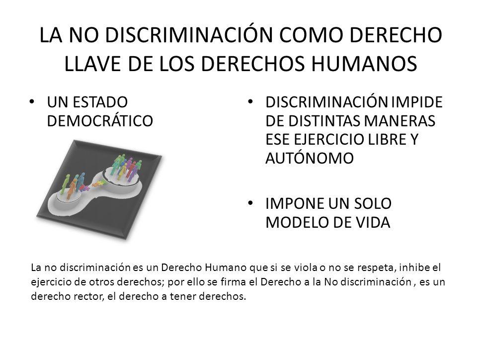 LA NO DISCRIMINACIÓN COMO DERECHO LLAVE DE LOS DERECHOS HUMANOS