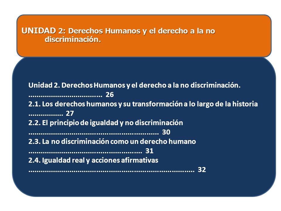 UNIDAD 2: Derechos Humanos y el derecho a la no