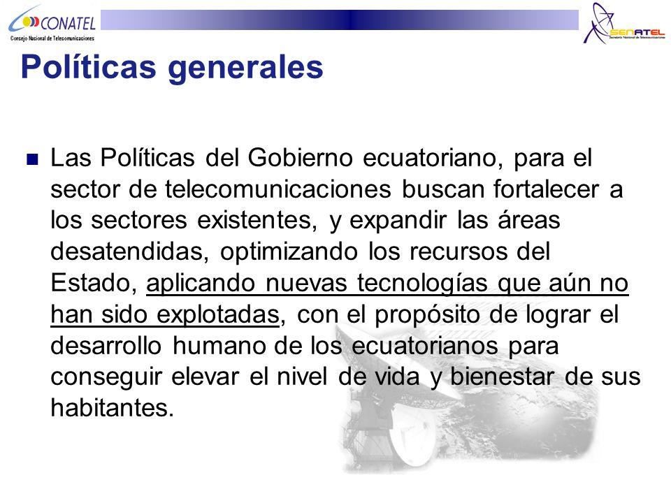 Políticas generales