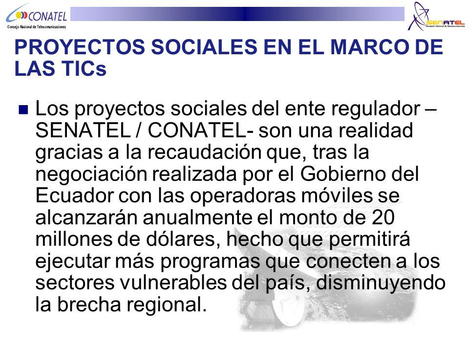 PROYECTOS SOCIALES EN EL MARCO DE LAS TICs