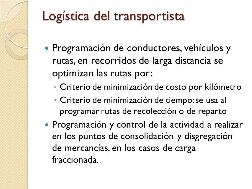 Logística del transportista