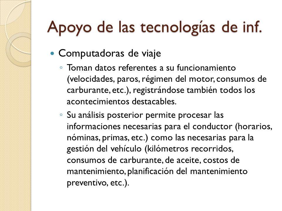Apoyo de las tecnologías de inf.