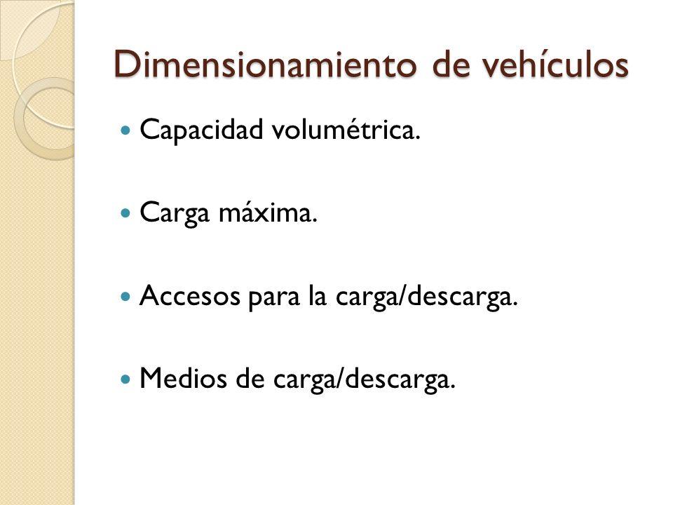 Dimensionamiento de vehículos