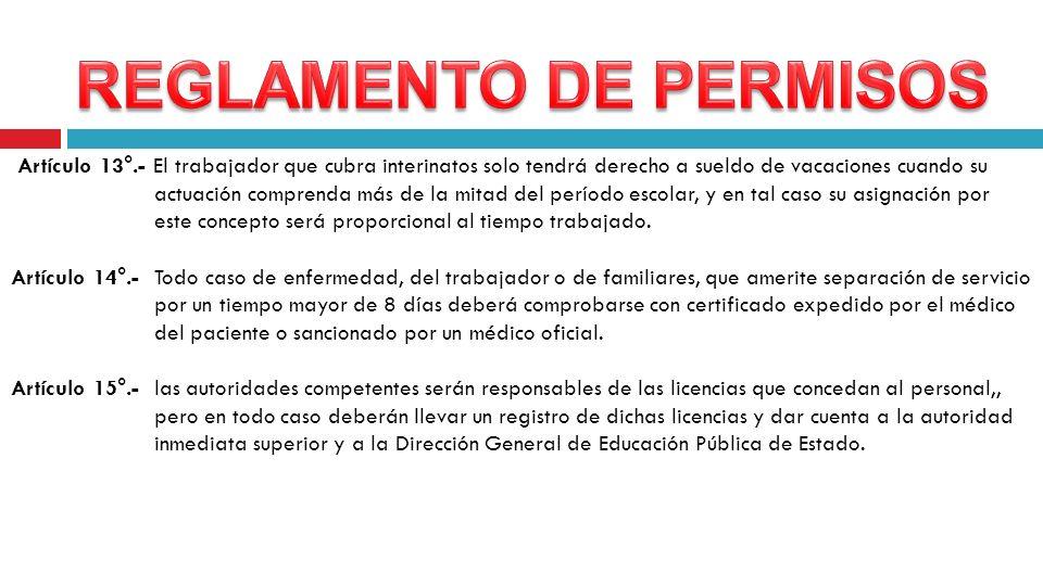 REGLAMENTO DE PERMISOS