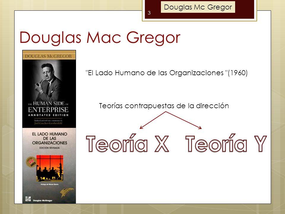 Teoría X Teoría Y Douglas Mac Gregor Douglas Mc Gregor