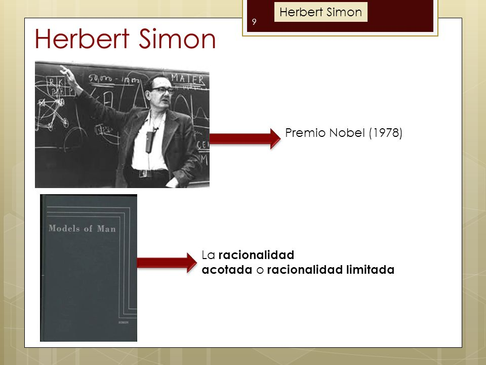 Herbert Simon Herbert Simon Premio Nobel (1978)