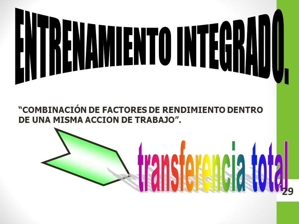 ENTRENAMIENTO INTEGRADO.