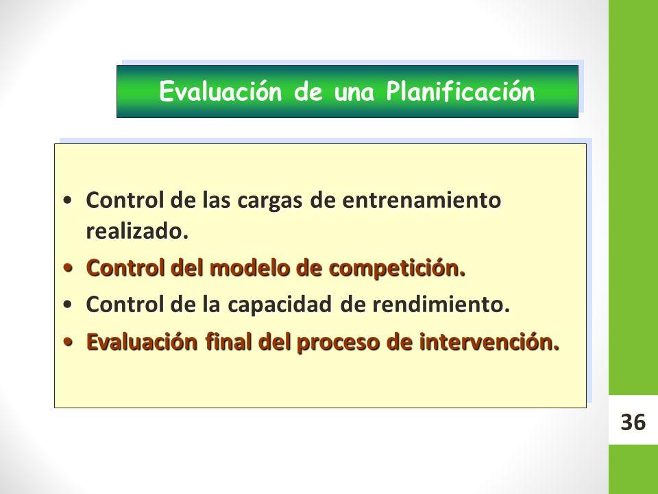 Evaluación de una Planificación