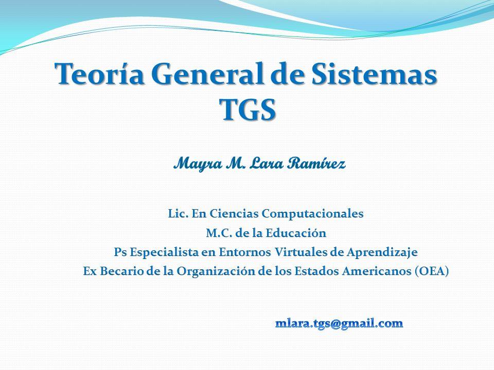 Teoría General de Sistemas TGS